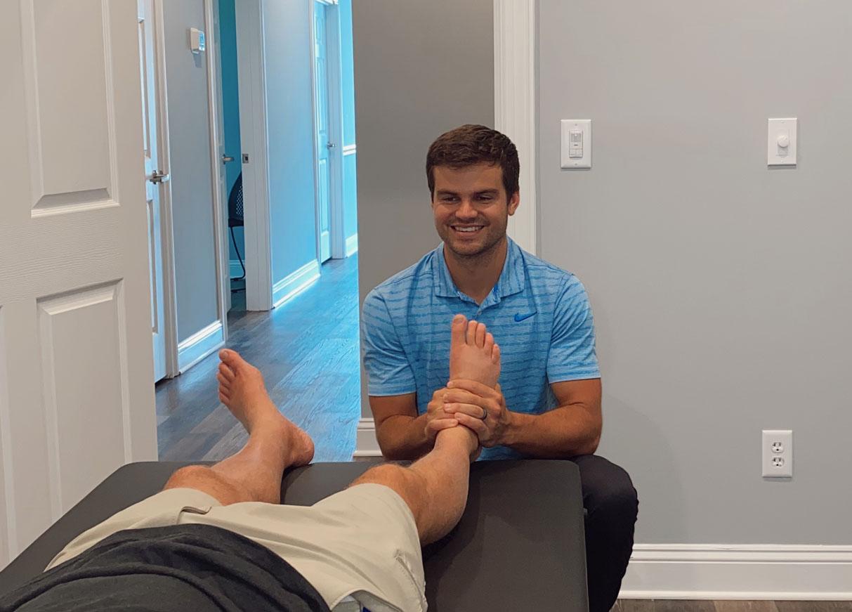 Grant providing chiropractic Services