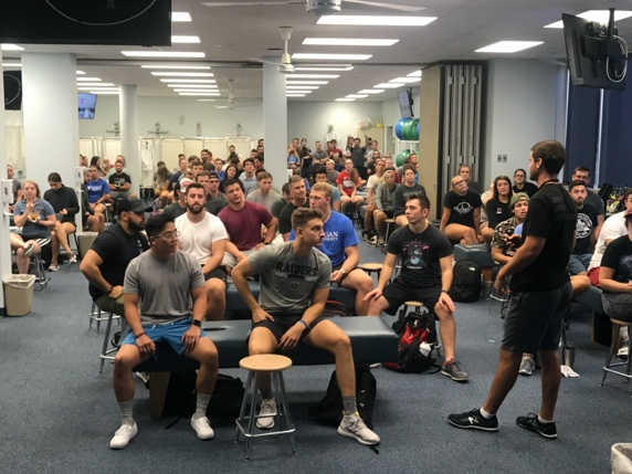 Students learning about anatomy, biomechanics, and the technique of manipulation